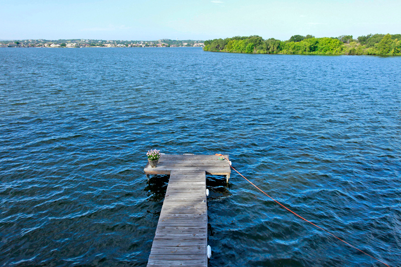great fishing pier on Lake LBJ