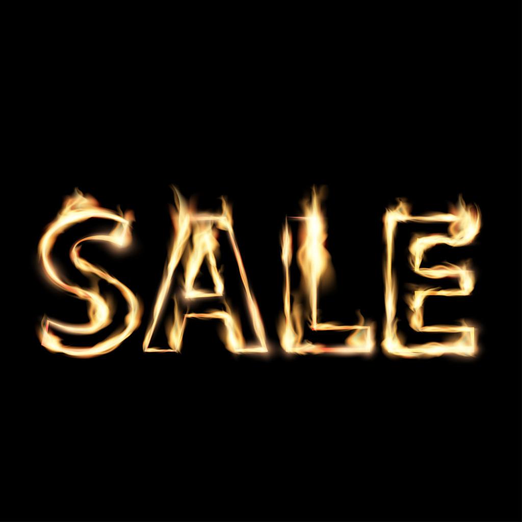 47279938 - word sale in fire.